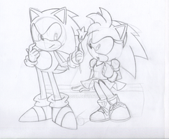 LineArt: Sonamy Classic by amyrose7
