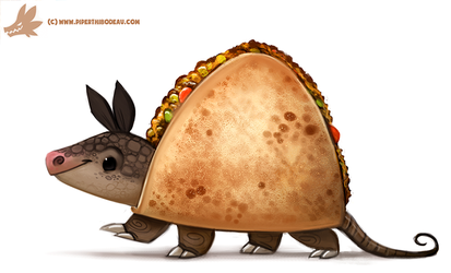 Daily Paint #1076. Quesadillo by Cryptid-Creations
