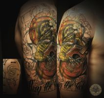 sleeve mexican mariachi by 2Face-Tattoo