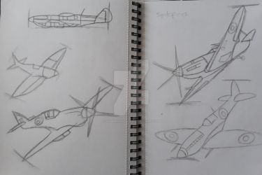 Plane Sketches #2 by SummerdayZ238