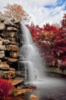Zoo Waterfall - Exclusive Autumn Warm HDR by somadjinn