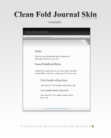 Clean Fold Journal  Install by Rebel2206