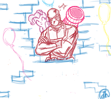 Deadpool and Pinkie Pie break down the fourth wall by daniellehaight