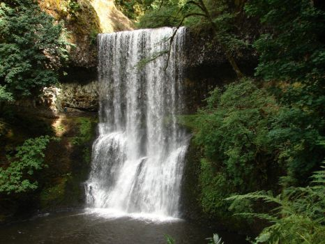 Waterfall Four by Miffliness-Stock