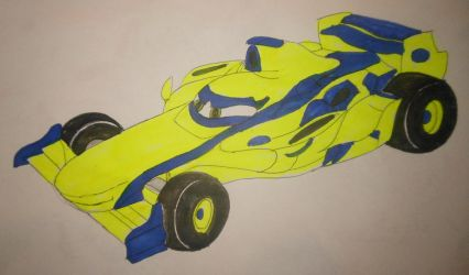 Roary the racing car: Maxi Pixar's Cars style by sgtjack2016