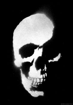Skull Stencil - Inverted by AnotherFinch
