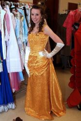 Belle's Gold Gown by DirgeofSorrow