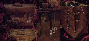 Leather shoulderbag by dcsnijders