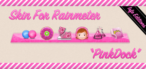 Skin For Rainmeter Pink Dock by Isfe