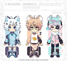 Adoptable: Casual Babes Batch 8 Pt1 [CLOSED] by amepan