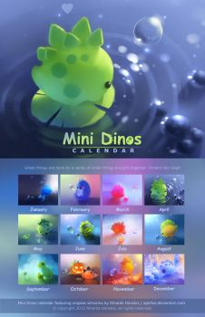 Mini Dinos Calendar by Apofiss