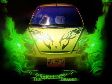 Green dragon Tag by Rick-Ds