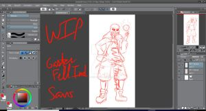 WIP: Gasterfell Sans by RTNightmare