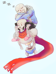 Sans and Papy by Xana-boi