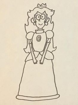 Princess Peach in GF style (Sketch) by FireMaster92