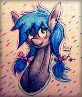 The Cute Blue-Maned Pony by Tamikimaru