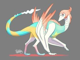 Smaugust 2018 Day 3, Pearl Dragon  by DevinQuigleyArt