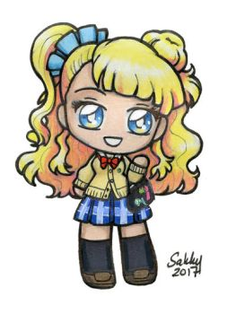 Galko-chan Chibi from Please Tell Me Galko-chan! by sakkysa