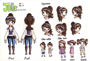 Julie character sheet by noodi10