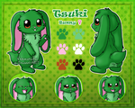 [Commission] Tsuki Reference Sheet by Veemonsito