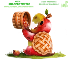 Daily Paint 1978# Snapple Turtle by Cryptid-Creations
