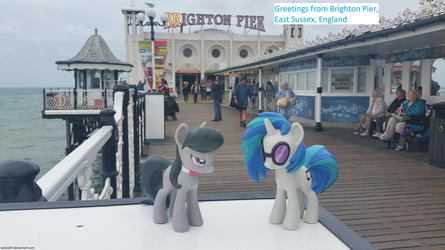 Vinyl Scratch and Octavia at Brighton Pier by Jacko247