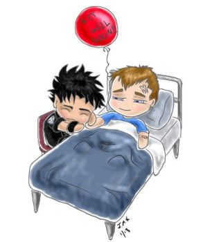 Get Well Soon - McShep chibis by Gnine