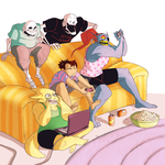 [UNDERTALE] Video Game Party by BITEGHOST