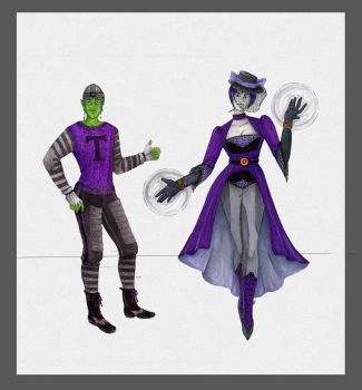 Beast Boy and Raven. by theceruleancreep
