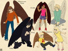 Books Characters - Maximum Ride - The Flock by GreenArcherAlchemist