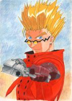 Colored Pencil Vash by hulyen