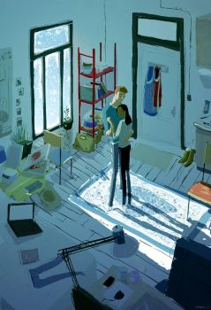The snow was falling by PascalCampion