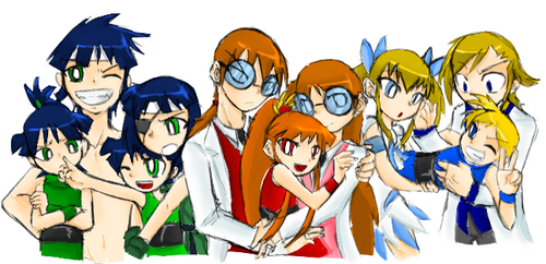family portrait color by kanoii-chi