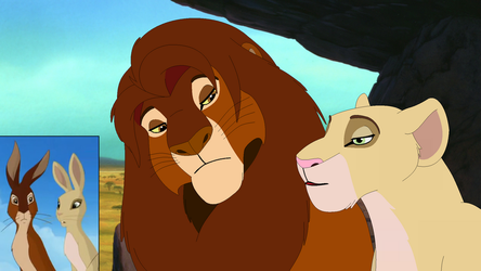 Hazel and Primrose as Lions. by Through-the-movies