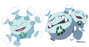 Alolan Koffing and Weezing