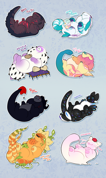 roly poly leechums (also a ych!) by MagicalZombie
