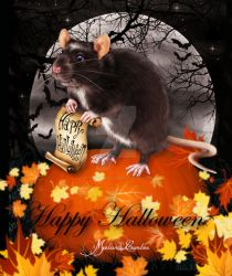 Halloween Mouse by paranormallily32