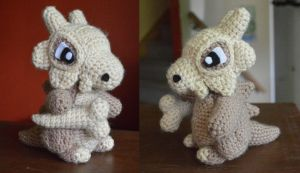 My most recent creation: Cubone! by LoopTeeLoops