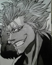Grimmjow from Anime Bleach by AlexKingART