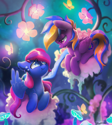 Commission: Blueberry and Plushberry by Celebi-Yoshi