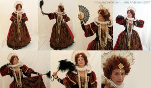 Queen Elizabeth in Red by CostumeSalon