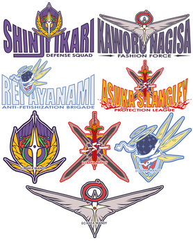 NGE + Shirt Designs 01 by BakaMandy