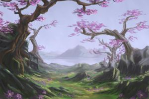 Speed Painting - Spring by CassiopeiaArt