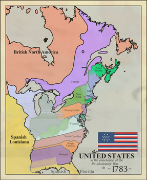 Explore On DeviantArt - Map of us in 1783