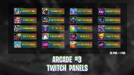 Arcade #3 - Twitch Panels by lol0verlay