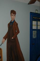 Doctor Who Mural by exorcisingemily