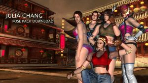 Julia Chang POSE PACK by Changinformatica