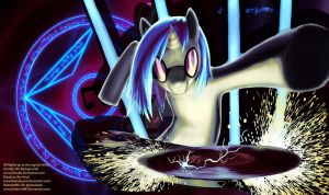 Photoshop/playmat 13 Vinyl Scratch/ DJ PON-3 by DarkmistRD