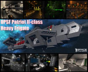 UPSF Patriot II-class Frigate @ Space Engineers by Vince-T