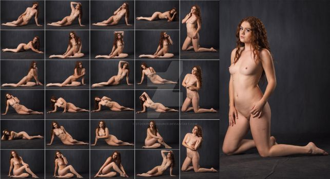 Stock: Allie Summers Nude Floor Poses - 28 Images by stockphotosource